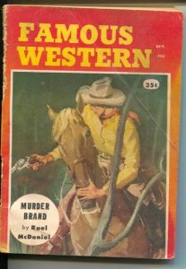 Famous Western 10/1958-A. Leslie Ross-post pulp titles in digest form-G