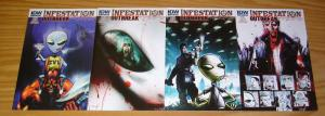 Infestation: Outbreak #1-4 VF/NM complete series - all B variants - idw comics
