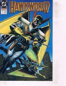 Lot Of 2 Comic Books DC Hawkworld #1 and Hellblazer #40 Batman  MS12