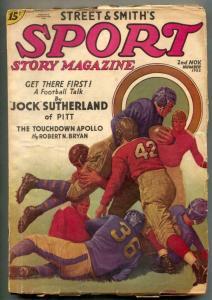 Sport Story Pulp 2nd November 1935- Jock Sutherland