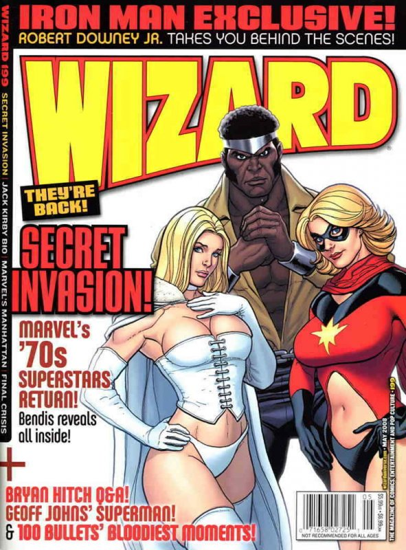 Wizard: The Comics Magazine #199B VF; Wizard   save on shipping - details inside