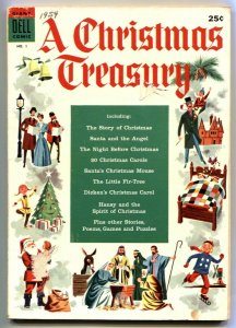 Christmas Treasury #1 1954- Dell comic book VG