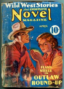 Wild West Stories and Complete Novels Pulp April 1937- Outlaw Round up
