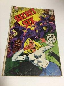 Secret Six 5 Gd- Good- 1.8 Bottom Staple Detached DC Comics Silver Age