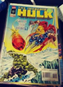 incredible hulk  # 440 1996  MARVEL ,ghosts of the future  pt 5 miestro thor