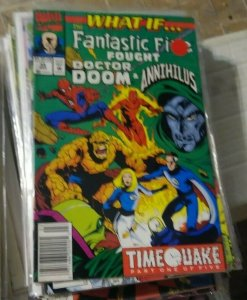 What If...? # 35  1992, Marvel timequake pt 1+ fantastic five vs doom annihilus