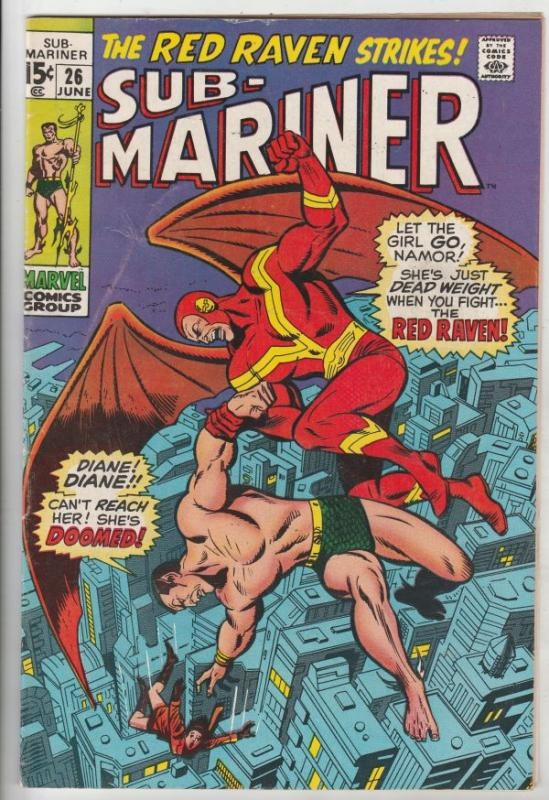 Sub-Mariner #26 (Jun-70) FN+ Mid-High-Grade Sub-Mariner (Prince Namor)