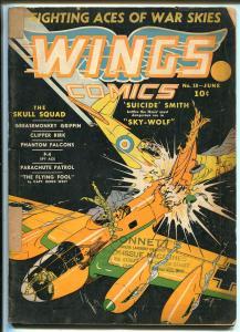 Wings #10 1941-Fiction House-pre WWII-aviation-Phantom Falcons-Parachute Patrol