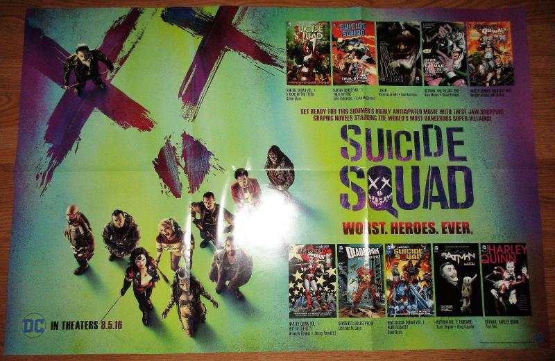 Suicide Squad Folded Movie Promo Poster (36 x 24) by DC Comics