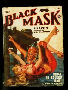 Black Mask Pulp Jan 1950- Norman Saunders cover- DL Champion- VG-