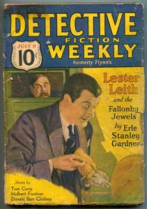 Detective Fiction Weekly Pulp July 9 1932- Fallonby Jewels- Lester Leith F/G