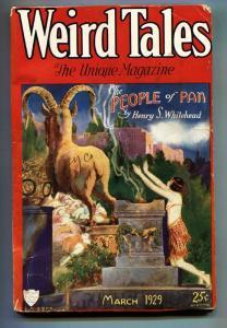 Weird Tales 3/1929-C.C. Senf cover-August Derelth-Pulp Magazine