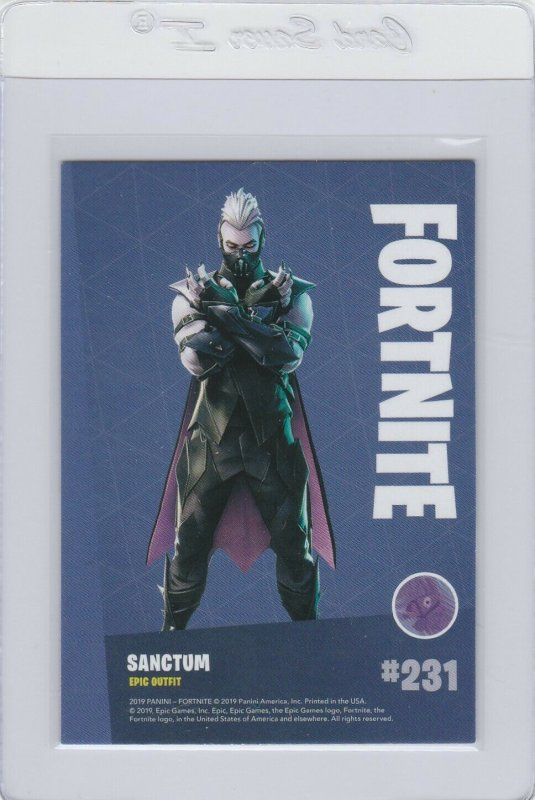 Fortnite Sanctum 231 Epic Outfit Panini 2019 trading card series 1