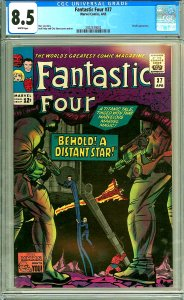 Fantastic Four 37 (CGC 8.5) White pages; Skrulls appearance; Kirby