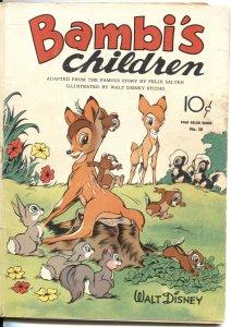 BAMBI'S CHILDREN #30-DELL FOUR COMICS SERIES-1943-WALT DISNEY STUDIOS ART-RARE