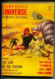 FANTASTIC UNIVERSE SCIENCE FICTION April 1956 Pulp mag digest-Flying Saucer cove