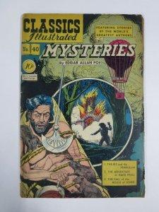 CLASSICS ILLUSTRATED 40 G HRN 40  1st ED. Poe Mysteries