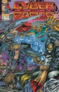 Cyberforce (Vol. 1) #2 VF/NM; Image   save on shipping - details inside