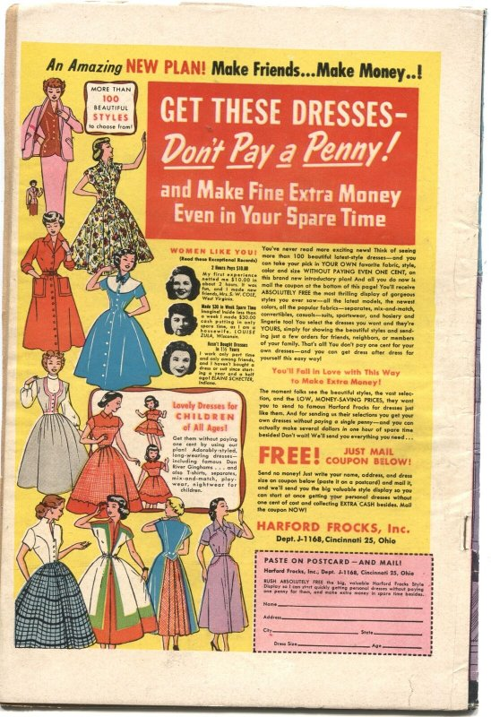 GIRLS' ROMANCES #19--1953--UNIQUE COVER--NICE INTERIOR ART--RARE DC