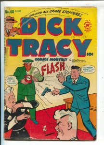 Dick Tracy #40 1951-Harvey-Case Of Atomic Killers-Chester Gould art-crime cov...