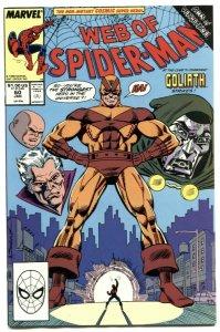 Web Of Spider-man #60 1990- Dr Doom- Goliath NM