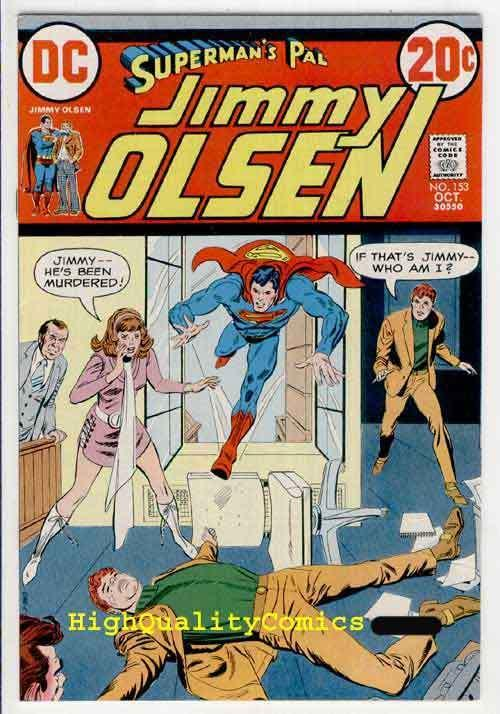 SUPERMAN'S PAL JIMMY OLSEN #153, VF+ to NM-, Murder in Metropolis,more in store