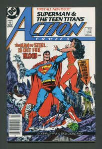 Action Comics (Superman) #584 / 9.4 NM  Newsstand  January 1987