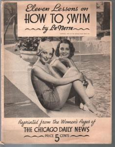 Eleven Lessons on How To Swim 1933-by Le Nette-pix & info-VG