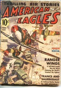 AMERICAN EAGLES-SPRING 1943-FINAL ISSUE-RARE PULP--BELARSKI COVER ART