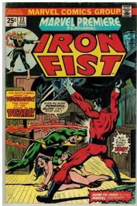 MARVEL PREMIERE 23 VG-F Aug. 1975 IRON FIST