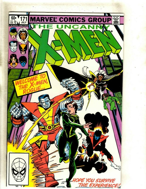 Uncanny X-Men # 171 NM Marvel Comic Book Wolverine Storm Hulk Angel Cyclops HJ9
