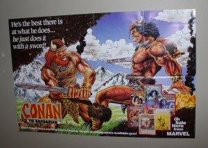 Conan The Barbarian Promo Poster / Mint / 1990