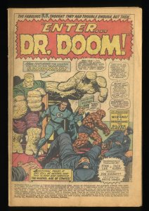Fantastic Four #57  Doctor Doom Silver Surfer! Coverless