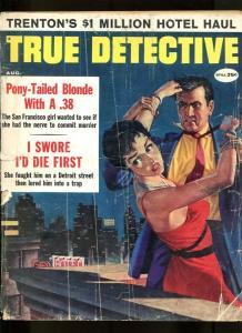 TRUE DETECTIVE-08/1959-BLONDE-.38-DEATH HOUSE-TERROR-MILLIONS-HOMICIDE G