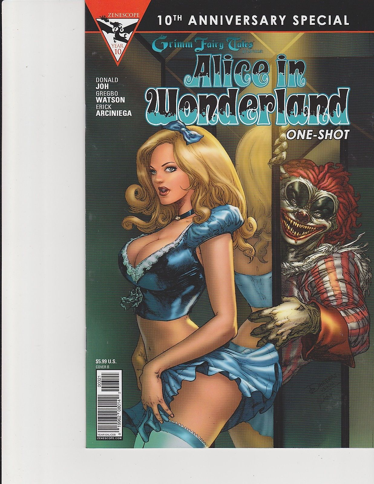 Alice in Wonderland Anniversary Special #3 Cover C Zenescope NM Comic Vault 35
