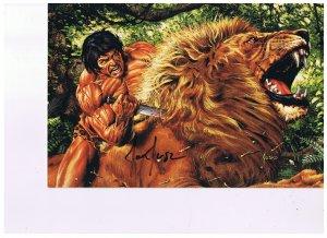 Joe Jusko's Edgar Rick Burroughs Colossal Cards Signed # 43  1995