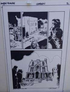 RICHARD CORBEN original art, HELLBOY DOUBLE FEATURE pg 9, Signed, 11x17, Mignola