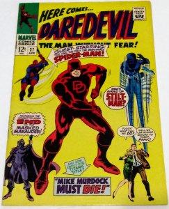 Daredevil #27 (6.5) 1967 Spider-Man Appearance Stan Lee Gene Colan ID#17L