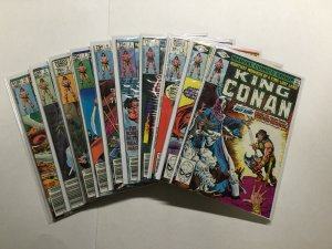 King Conan 1-19 Lot Run Set Near Mint Or Better Marvel