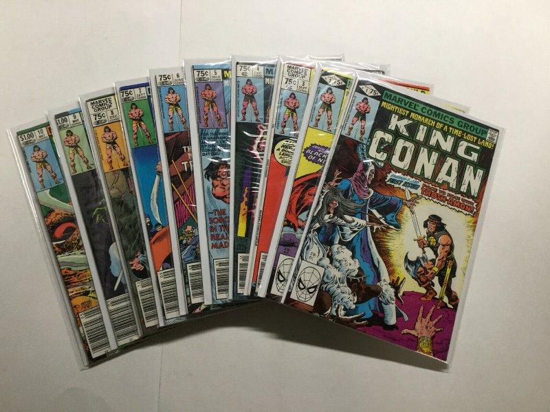 King Conan 1-19 Lot Run Set Near Mint Or Better Marvel