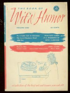 BOOK OF WILD HUMOR #1 1953-OGDEN NASH-PG WODEHOUSE-PULP FN