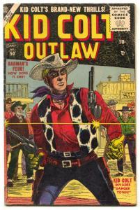Kid Colt Outlaw #50 1955- Carl Burgos cover- Rio Kid VG