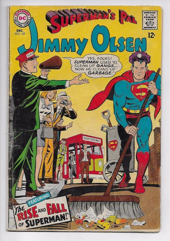 Superman's Pal Jimmy Olsen #107 - Rise and Fall of Superman (DC, 1967) - GD/VG