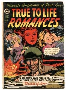 True-To-Life Romances #13 1952- LB COLE war cover VG+