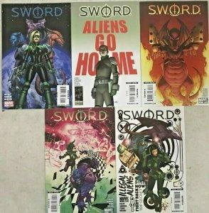 SWORD#1-5 VF/NM LOT 2009  MARVEL COMICS