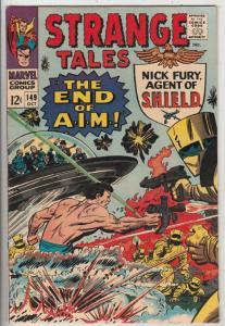 Strange Tales #149 (Oct-66) NM+ Super-High-Grade Nick Fury, Dr. Strange