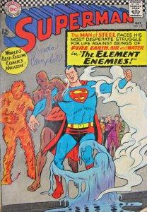 Superman Four Element Enemies DC Comics #190 1966 Silver Age 12 Cent VG- 3.5