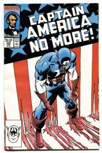 Captain America #332  1987-Steve Rogers resigns NM-