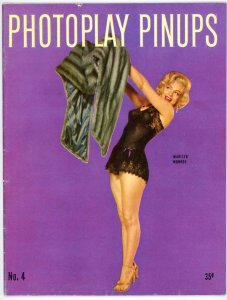 Photoplay Pinups Magazine 1953 Marilyn Monroe with Fur on Cover Actresses Actors