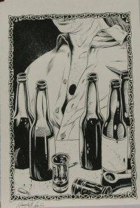 DOUG SIROIS original published art, BANSHEE'S CRY splash page 13, 12 x 18,201